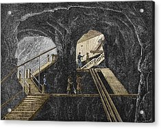 19th-century Mining Acrylic Print by Sheila Terry