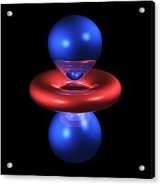 3dz2 Electron Orbital Acrylic Print by Dr Mark J. Winter