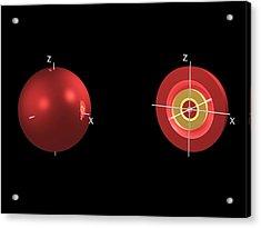 4s Electron Orbital Acrylic Print by Dr Mark J. Winter