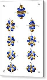 5g Electron Orbitals Acrylic Print by Dr Mark J. Winter