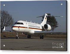 A Bombardier Global 5000 Vip Jet Acrylic Print by Timm Ziegenthaler