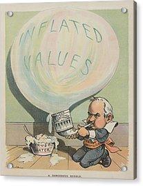 A Dangerous Bubble 1902 Cartoon Acrylic Print by Everett