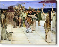 A Dedication To Bacchus Acrylic Print by Sir Lawrence Alma-Tadema