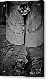 Acrylic Print featuring the photograph A Man At Work by Tamera James