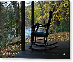 A Perfect Seat Acrylic Print by Cheryl Perin