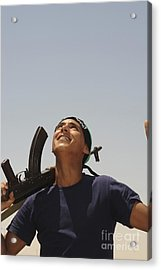 A Rebel Fighter With An Ak-47 Assault Acrylic Print