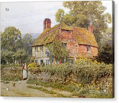 A Surrey Cottage Acrylic Print by Helen Allingham