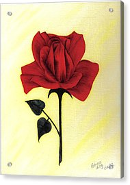 Acrylic Print featuring the painting A Touch Of Beauty by Patricia Hiltz