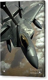 A U.s. Air Force F-22 Raptor Acrylic Print by Stocktrek Images