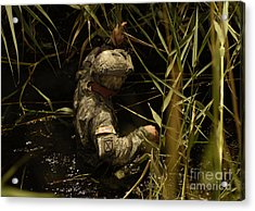 A U.s. Army Soldier Searches Acrylic Print by Stocktrek Images