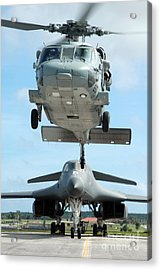 A U.s. Navy Mh-60s Seahawk Helicopter Acrylic Print by Stocktrek Images