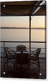 A View From A Cruise Ship On Lake Acrylic Print by Taylor S. Kennedy