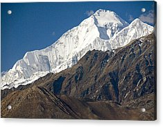 A View Of Dhaulagiri From The North Acrylic Print by Stephen Sharnoff