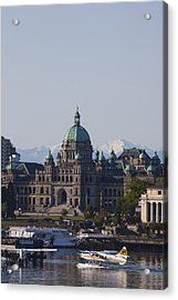A View Of The Legislative Building Acrylic Print by Taylor S. Kennedy