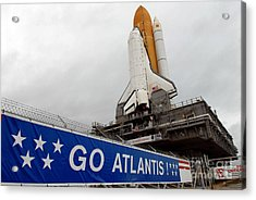 A View Space Shuttle Atlantis On Launch Acrylic Print by Stocktrek Images