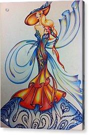 Abstract Art Fashion Acrylic Print by Natasha Russu