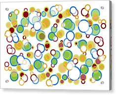 Abstract Circles Acrylic Print by Frank Tschakert