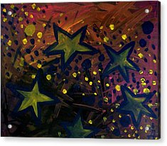 Acrylic Print featuring the painting Abstract Stars by Monica Furlow