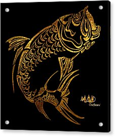 Abstract Tarpon Fishing Mad Outfitters Fish Design Acrylic Print by MAD Outfitters