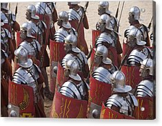 Actors Re-enact A Roman Legionaries Acrylic Print by Taylor S. Kennedy