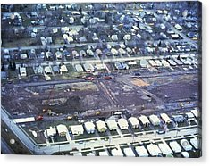 Aerial View Of Clean Up Operations Acrylic Print by Everett