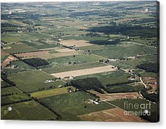 Aerial View Of Landscape Acrylic Print by Shannon Fagan