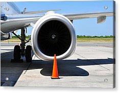 Air Transportation. Jet Engine Detail. Acrylic Print by Fernando Barozza