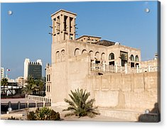 Al Bastakiya District Acrylic Print by Fabrizio Troiani