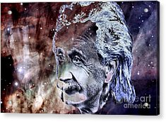 Albert Einstein Acrylic Print by Elinor Mavor