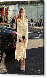 Alexa Chung Wearing A Marc Jacobs Dress Acrylic Print by Everett