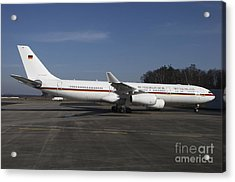 An Airbus 340 Acting As Air Force One Acrylic Print by Timm Ziegenthaler
