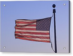 An American Flag At Sunrise Acrylic Print by Joel Sartore
