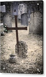An Old Cemetery With Grave Stones Acrylic Print by Joana Kruse