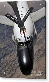 An Rc-135 Rivet Joint Reconnaissance Acrylic Print by Stocktrek Images