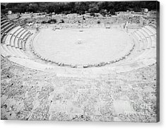 Ancient Site Of Roman Theatre At Salamis Famagusta Turkish Republic Of Northern Cyprus Trnc Acrylic Print by Joe Fox
