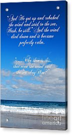 And It Became Perfectly Still Acrylic Print by Linda Mesibov