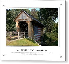 Andover Nh Historical Bridge Acrylic Print by Jim McDonald Photography