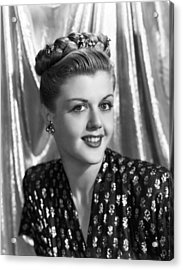 Angela Lansbury, 1945 Acrylic Print by Everett