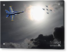 Angels In The Sky Acrylic Print by Wingsdomain Art and Photography