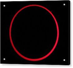 Annular Solar Eclipse Acrylic Print by Laurent Laveder