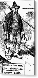 Anti-immigrant Cartoon Acrylic Print by Granger