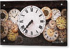 Antique Clocks Acrylic Print by Elena Elisseeva