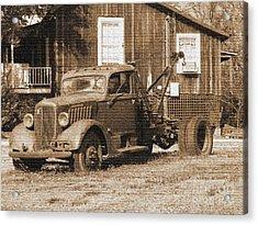 Antique Tow Truck Acrylic Print by Barbara Bowen