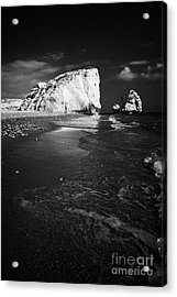Aphrodites Rock Petra Tou Romiou Republic Of Cyprus Europe Acrylic Print by Joe Fox