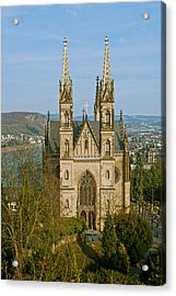 Apollinaris Church In Remagen Acrylic Print by Design Windmill