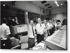 Apollo 13 Flight Directors Applaud Acrylic Print by Everett