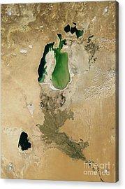 Aral Sea Acrylic Print by NASA / Science Source