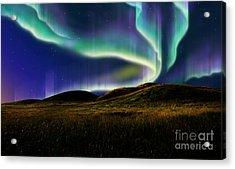 Aurora On Field Acrylic Print by Atiketta Sangasaeng