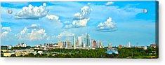 Austin Cityscape Acrylic Print by Andrew Nourse