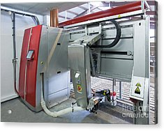 Automatic Milking Machine Acrylic Print by Jaak Nilson
